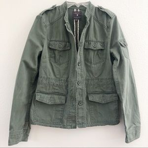 Forever 21 Olive Green Utility Jacket Medium